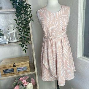 Finders cross back pink low cut back cute dress